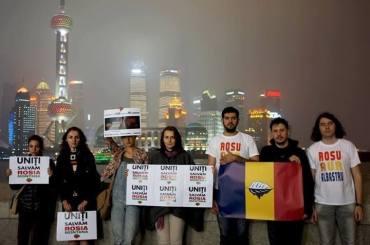 Save Rosia Montana la Shanghai